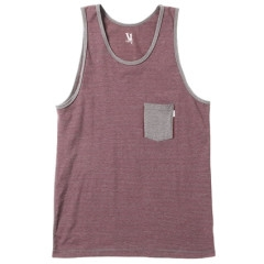 SOLACE STRETCH TANK BURGUNDY STRIPE