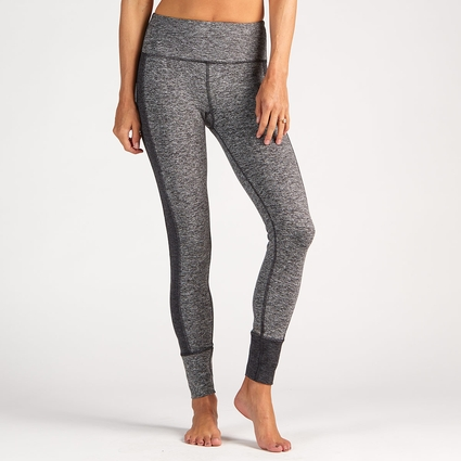 ASYMMETRIC BLOCK LEGGING HEATHER GREY