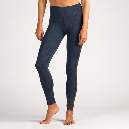 ASYMMETRIC BLOCK LEGGING MIDNIGHT BLUE