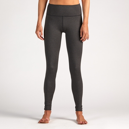 HEATHER CHARCOAL LEGGING - LONG