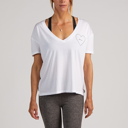 HEART ENCINITAS BOXY V NECK