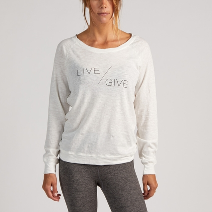 LIVE/GIVE PULLOVER WHITE