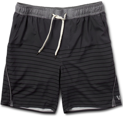 TRAIL SHORT: CHARCOAL STRIPE