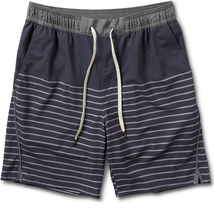 TRAIL SHORT: NAVY STRIPE