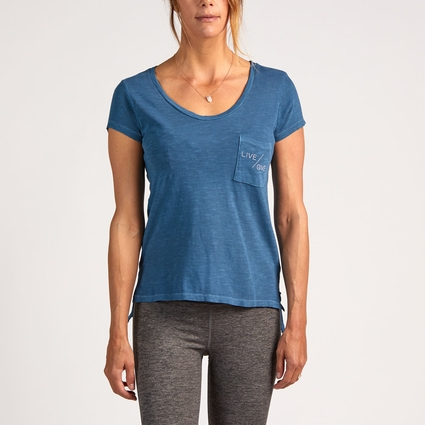 LIVE/GIVE FAVORITE TEE MINERAL BLUE