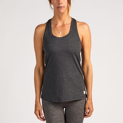 BEACONS PERFORMANCE TOP HEATHER CHARCOAL